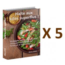 """""""Halte aux kilos superflus"""" x 5"""